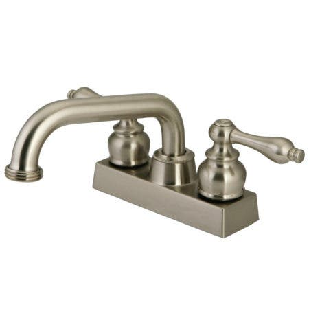 Kingston Brass KB2478AL 4?in.?Centerset?2-Handle?Laundry Faucet, Brushed Nickel