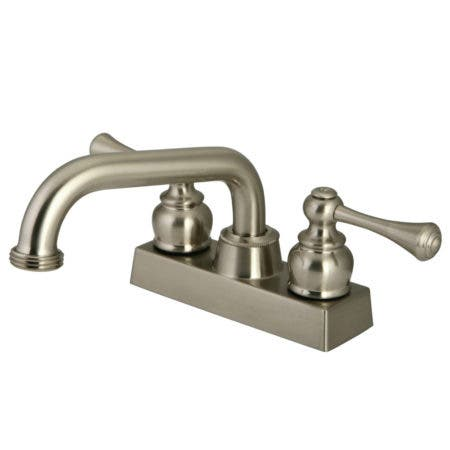 Kingston Brass KB2478BL Two-Handle 3-Hole Deck Mounted Laundry Faucet in Brushed Nickel