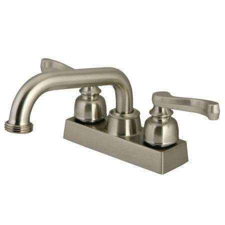 Kingston Brass KB2478FL Two-Handle 3-Hole Deck Mounted Laundry Faucet in Brushed Nickel