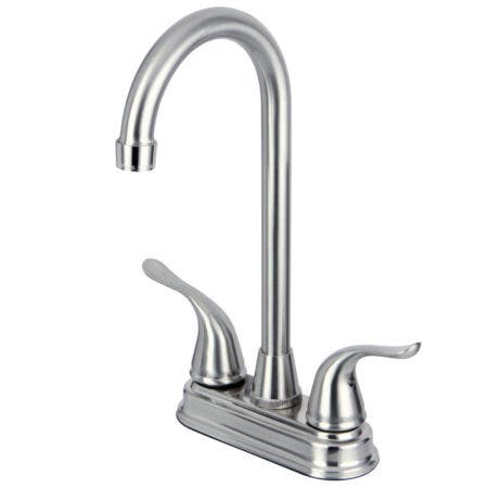 Kingston Brass KB2498YL Two Handle 4-inch Centerset Bar Faucet, Brushed Nickel
