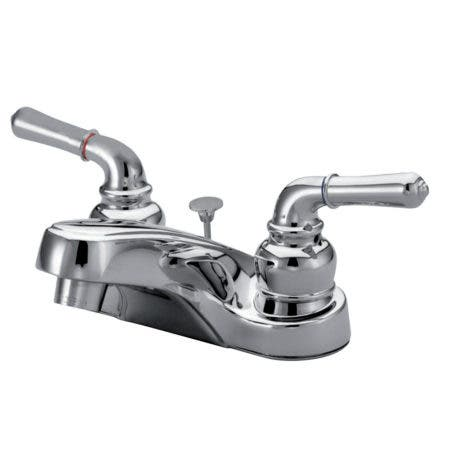 Kingston Brass KB251B 4 in. Centerset Bathroom Faucet, Polished Chrome