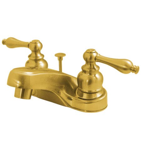 Kingston Brass KB3402GL Georgian 4-Inch Lavatory Faucet With Retail Pop-Up Drain Polished Brass