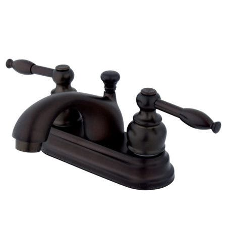 Kingston Brass KB2605KL 4 in. Centerset Bathroom Faucet, Oil Rubbed Bronze
