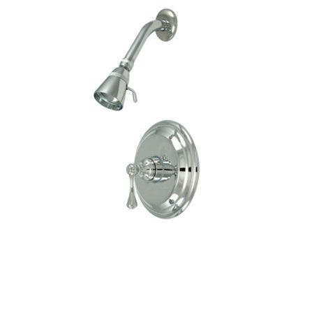 Kingston Brass KS213PB Kingston Collection 2 handle WALL MOUNT KTCHN Faucet with Polished Brass FINISH HANDEL