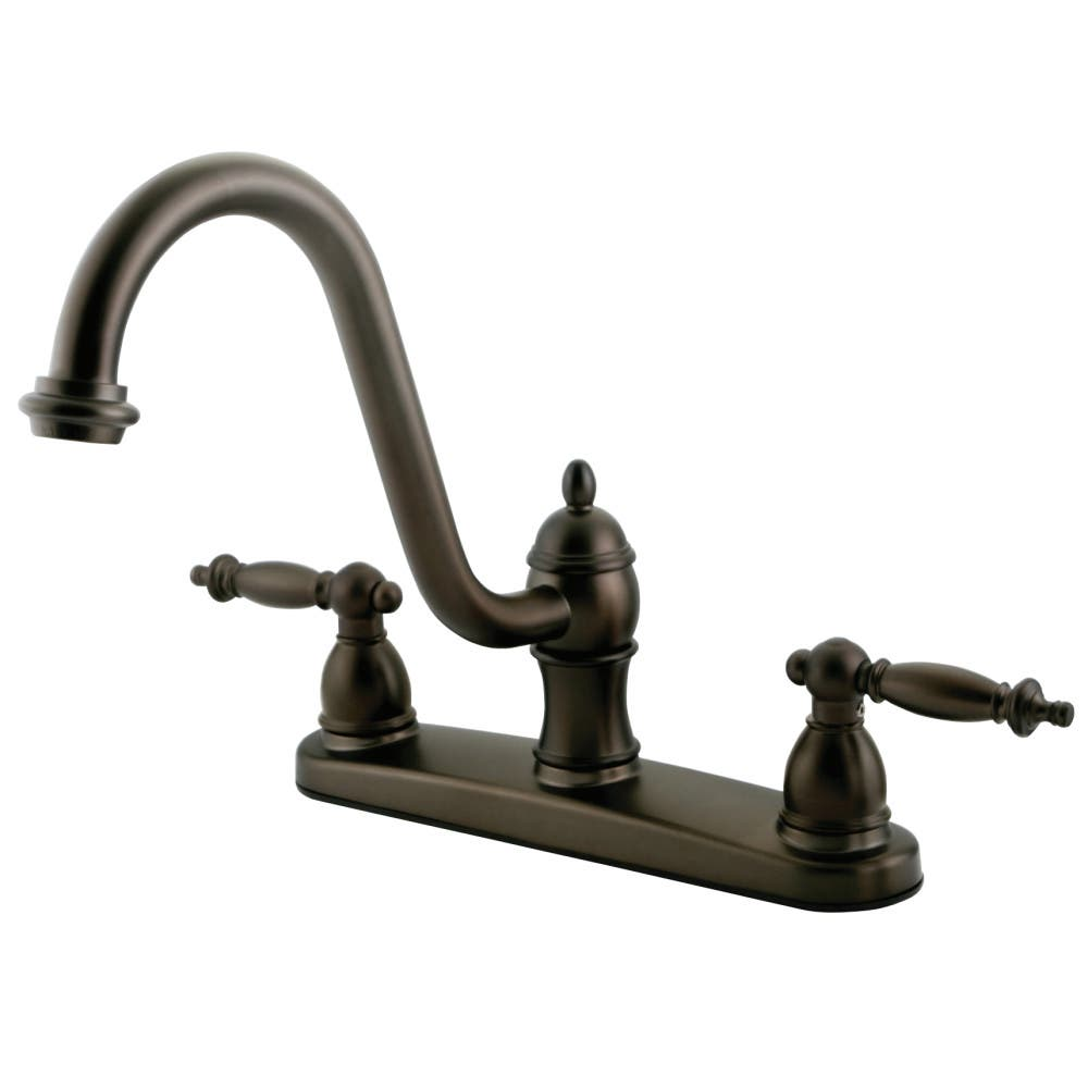Kingston Brass KB3115TLLS Centerset Kitchen Faucet, Oil Rubbed Bronze