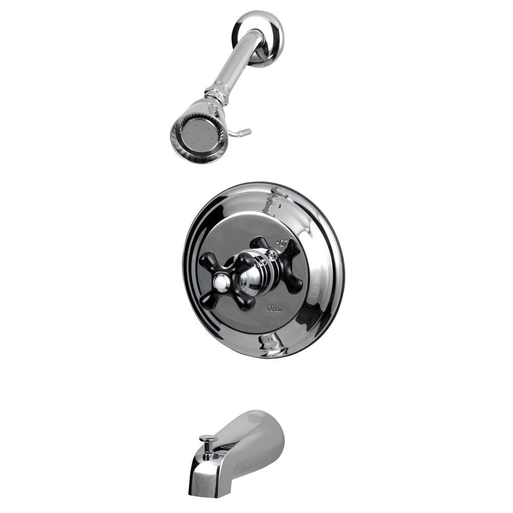 Kingston Brass KB3631PKX Duchess Tub and Shower Faucet with Cross ...