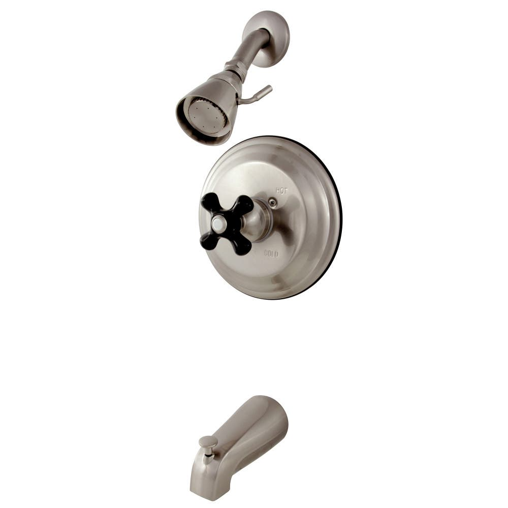 Kingston Brass KB3638PKX Duchess Tub and Shower Faucet with Cross ...