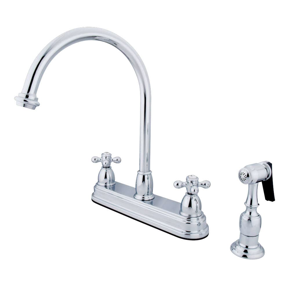 Kingston Brass KB3751AXBS Centerset Kitchen Faucet, Polished Chrome