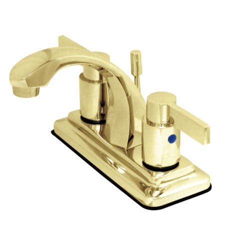 Kingston Brass KB4642NDL NuvoFusion Lavatory Faucet with Pop-Up, Polished Brass