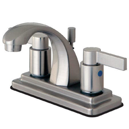 Kingston Brass KB4648NDL NuvoFusion Lavatory Faucet with Pop-Up, Satin Nickel