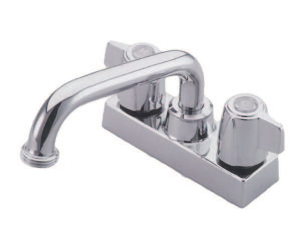 Kingston Brass KB470 Kingston Brass KB470 Laundry Tray Faucet with Canopy Handles, Chrome