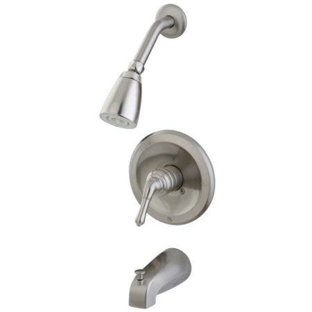 Kingston Brass KB538NML Tub and Shower Faucet, Brushed Nickel