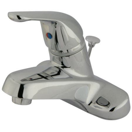 Kingston Brass KB541B Single-Handle 4 in. Centerset Bathroom Faucet, Polished Chrome