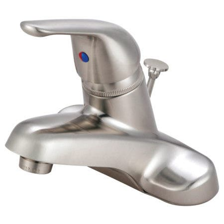 Kingston Brass KB548B 4 in. Centerset Bathroom Faucet, Brushed Nickel