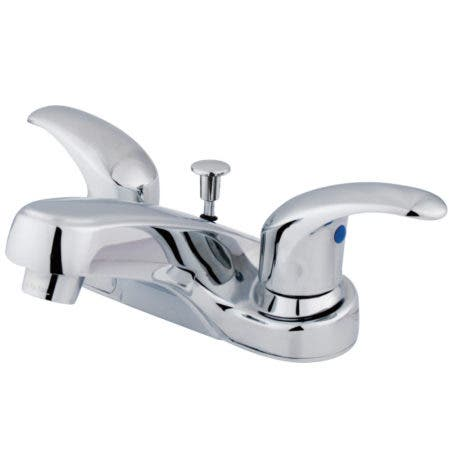 Kingston Brass KB6251LL 4 in. Centerset Bathroom Faucet, Polished Chrome