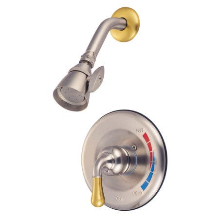 """Kingston Brass KB620 Twin Brass Canopy Handle 4"""" Centerset bathroom Faucet with Non"""