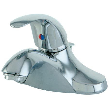 Kingston Brass KB6541LL Single-Handle 4 in. Centerset Bathroom Faucet, Polished Chrome