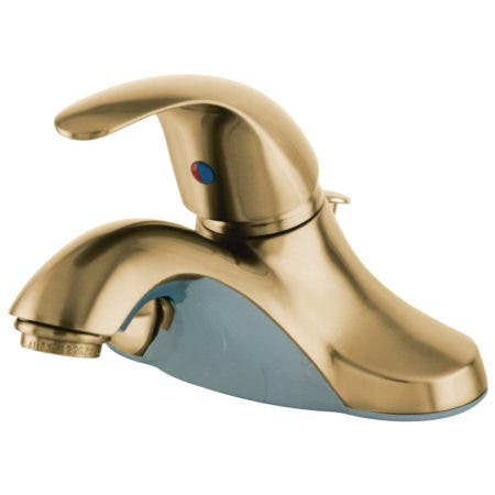 Kingston Brass KB6542LL Single-Handle 4 in. Centerset Bathroom Faucet, Polished Brass