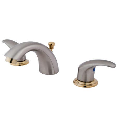 Kingston Brass KB6959LL Mini-Widespread Bathroom Faucet, Brushed Nickel/Polished Brass