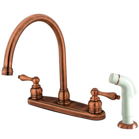 Kingston Brass KB958PL Kingston Brass KB958PL Mini Widespread Lavatory Faucet and Retail Pop-Up, Satin Nickel