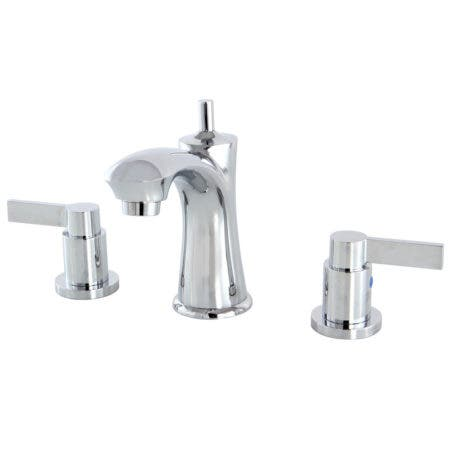 Kingston Brass KB7961NDL NuvoFusion Widespread Lavatory Faucet, Polished Chrome