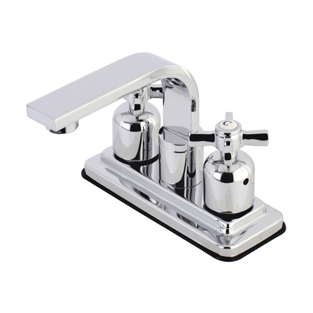 Kingston Brass KB8461ZX 4 in. Centerset Bathroom Faucet, Polished Chrome