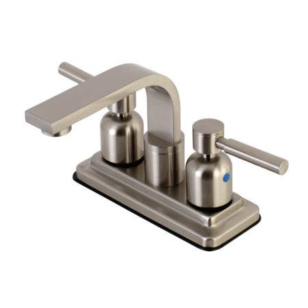 Kingston Brass KB8468DL Concord 4-Inch Centerset Bathroom Faucet, Brushed Nickel