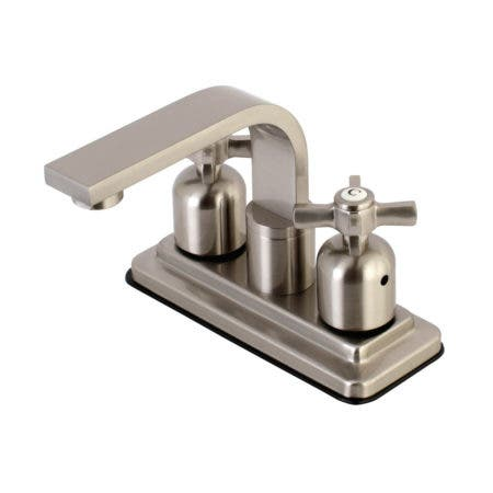 Kingston Brass KB8468ZX Millennium 4-Inch Centerset Bathroom Faucet, Brushed Nickel