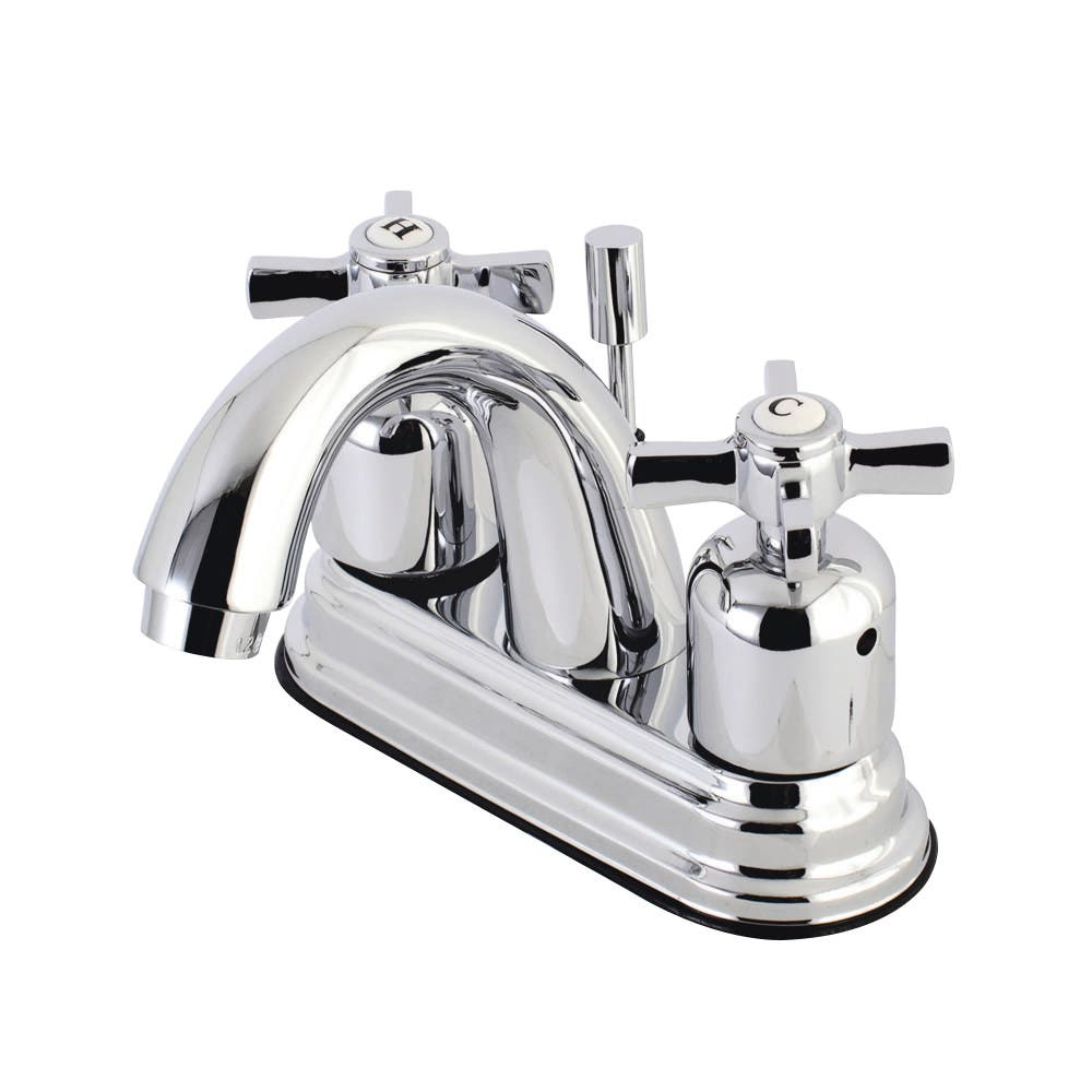 Kingston Brass KB8611ZX 4 in. Centerset Bathroom Faucet, Polished Chrome
