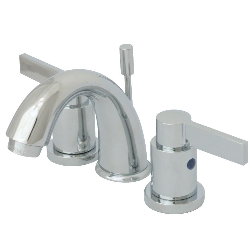 Kingston Brass KB8911NDL NuvoFusion Mini Widespread Lavatory Faucet with Pop-Up, Polished Chrome