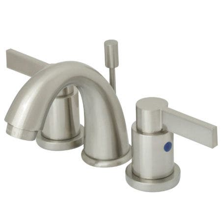 Kingston Brass KB8918NDL NuvoFusion Mini Widespread Lavatory Faucet with Pop-Up, Satin Nickel