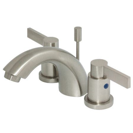 Kingston Brass KB8958NDL NuvoFusion Widespread Lavatory Faucet with Pop-Up, Satin Nickel