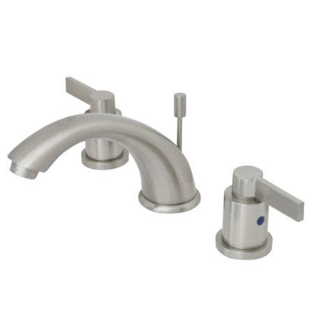 Kingston Brass KB8968NDL NuvoFusion Widespread Lavatory Faucet with Pop-Up, Satin Nickel