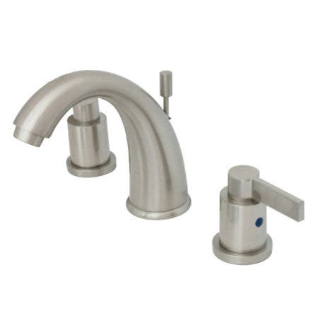 Kingston Brass KB8988NDL NuvoFusion Widespread Lavatory Faucet with Pop-Up, Satin Nickel
