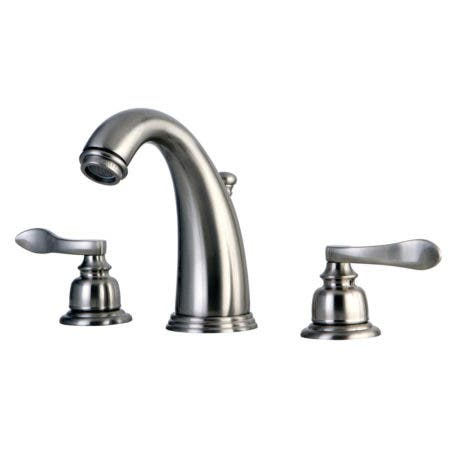 Kingston Brass KB8988NFL NuWave French Widespread Lavatory Faucet with ABS/Brass Pop-Up, Satin Nickel