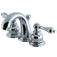 "Kingston Brass KS2615PL Governor 4"" centerset bathroom Faucet with Brass pop"