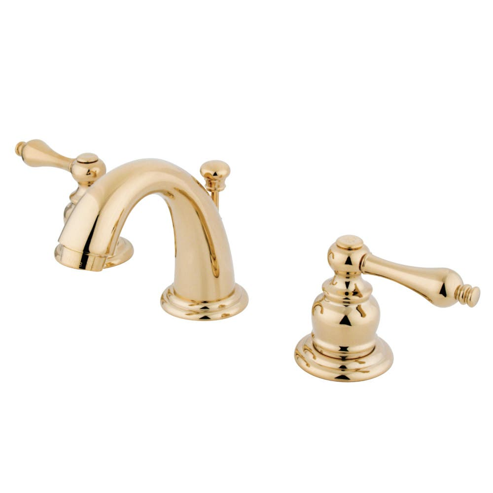 Kingston Brass KB912AL English Country Widespread Bathroom Faucet, Polished Brass