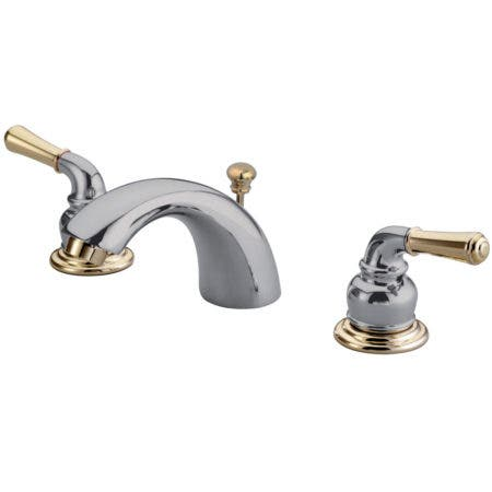 Kingston Brass KB954 Magellan Mini-Widespread Bathroom Faucet, Polished Chrome/Polished Brass