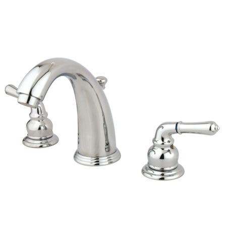Kingston Brass  KB981 Magellan Widespread Lavatory Faucet with Twin Lever Handles, ABS/Brass Pop-Up