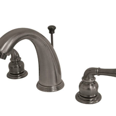 Kingston Brass  KB983 Magellan Widespread Lavatory Faucet with Twin Lever Handles, ABS/Brass Pop-Up