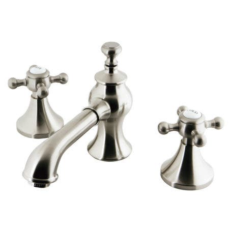 Kingston Brass KC7068BX Widespread Lavatory Faucet with Brass Pop-Up, Satin Nickel