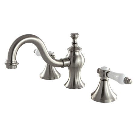 Kingston Brass KC7168BPL 8-Inch Widespread Lavatory Faucet, Brushed Nickel