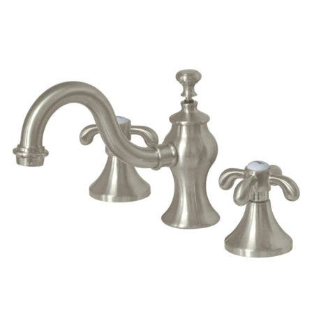 Kingston Brass KC7168TX 8-Inch Widespread Lavatory Faucet, Brushed Nickel