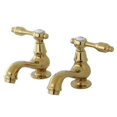 Kingston Brass KS1102TAL Basin Tap Faucet with Lever Handle, Polished Brass
