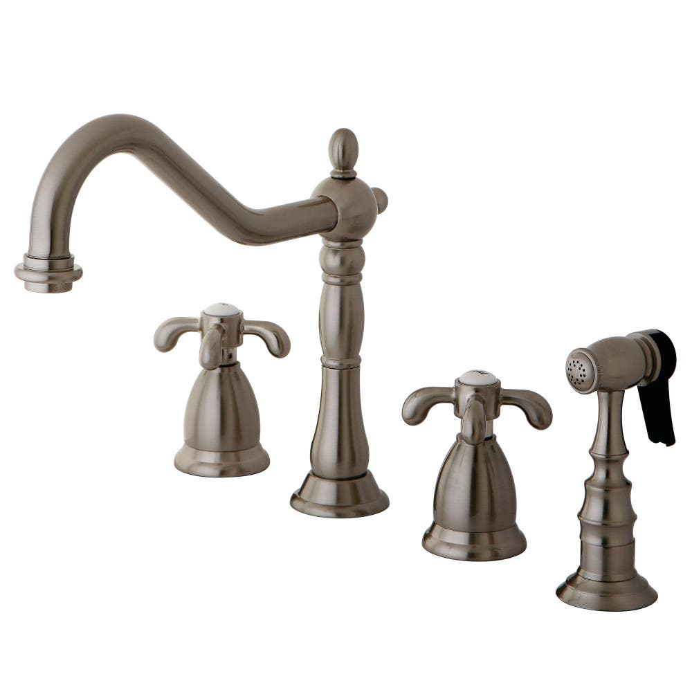 Kingston Brass KS1798TXBS French Country Widespread Kitchen Faucet,ORB