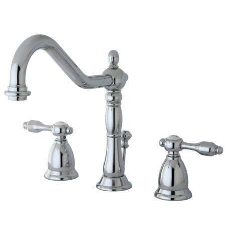 Kingston Brass KS1991TAL Widespread Lavatory Faucet with Brass Pop-Up, Chrome