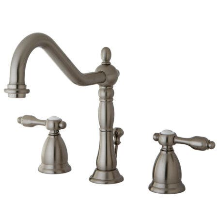 Kingston Brass KS1998TAL Widespread Lavatory Faucet with Brass Pop-Up, Satin Nickel