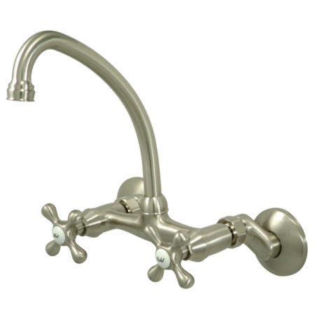 """Kingston Brass KS4948ML Two Handle 4"""" to 8"""" Mini Widespread bathroom Faucet with Brass Pop"""