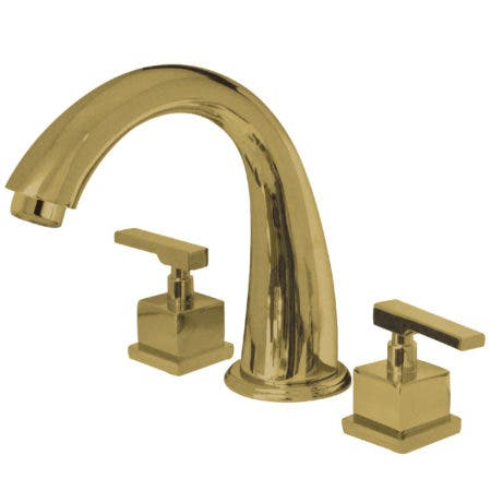Kingston Brass KS2362QLL Roman Tub Filler, Polished Brass