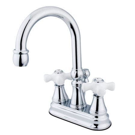 Kingston Brass KS2611PX 4 in. Centerset Bathroom Faucet, Polished Chrome